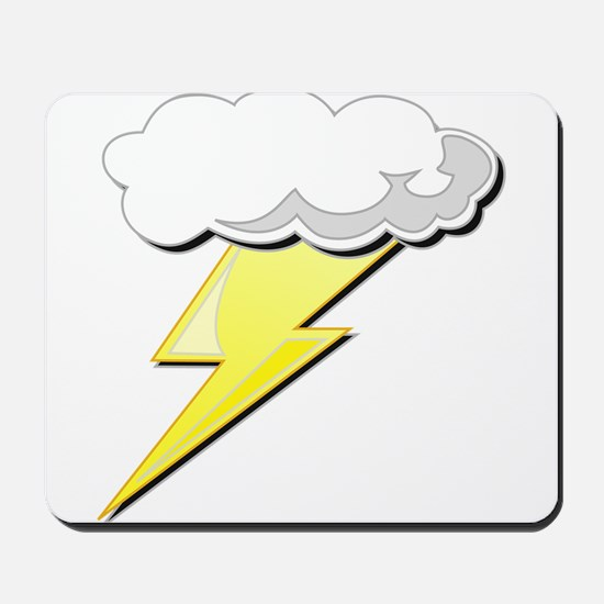 Lightning Bolt and Cloud Mousepad