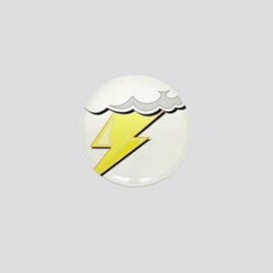Lightning Bolt and Cloud Mini Button