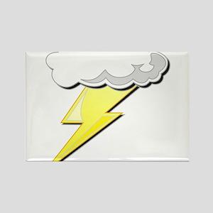 Lightning Bolt and Cloud Rectangle Magnet