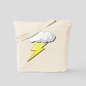 Lightning Bolt and Cloud Tote Bag