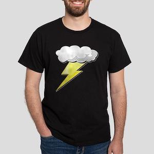 Lightning Bolt and Cloud Dark T-Shirt
