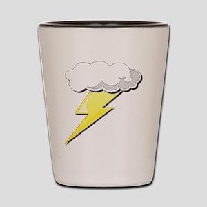 Lightning Bolt and Cloud Shot Glass