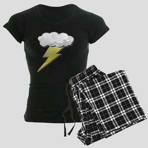 Lightning Bolt and Cloud Women's Dark Pajamas