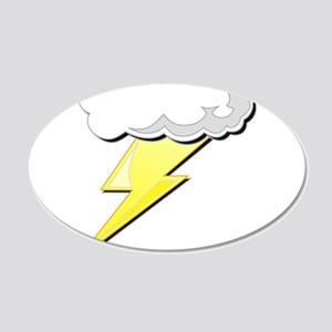 Lightning Bolt and Cloud 22x14 Oval Wall Peel