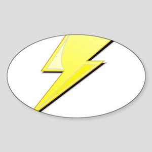 Simple Lightning Bolt Sticker (Oval)