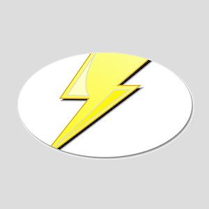 Simple Lightning Bolt 22x14 Oval Wall Peel