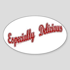 Especially Delicious Oval Sticker