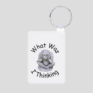 What Was I Thinking Aluminum Photo Keychain