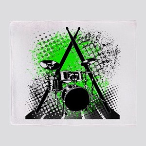 Drums & Sticks Throw Blanket