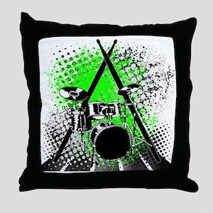 Drums & Sticks Throw Pillow
