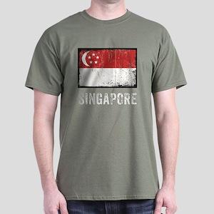 Grunge Singapore Dark T-Shirt