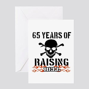 65 years of raising hell Greeting Card