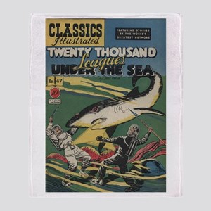 20,000 Leagues Under the Sea Throw Blanket