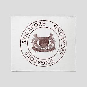 Vintage Singapore Throw Blanket