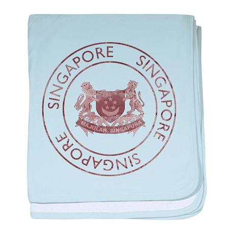 Vintage Singapore baby blanket
