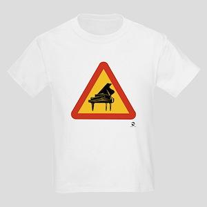 Warning: Pianos! Kids T-Shirt