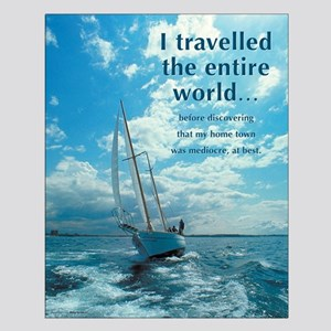 I Travelled the World - Satirical Poster