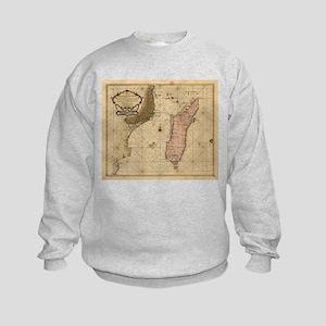 Vintage Map of Madagascar (1679) Sweatshirt