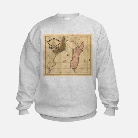 Vintage Map of Madagascar (1679) Sweatshirt