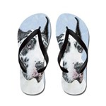 Great Dane (Harlequin) Flip Flops