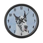Great Dane (Harlequin) Large Wall Clock