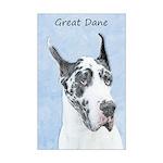 Great Dane (Harlequin) Mini Poster Print