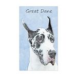 Great Dane (Harlequin) Sticker (Rectangle)