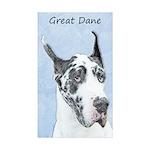 Great Dane (Harlequin) Sticker (Rectangle 50 pk)