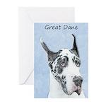 Great Dane (Harlequin) Greeting Cards (Pk of 10)
