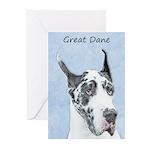 Great Dane (Harlequin) Greeting Cards (Pk of 20)