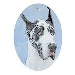 Great Dane (Harlequin) Oval Ornament