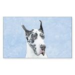 Great Dane (Harlequin) Sticker (Rectangle 10 pk)