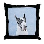 Great Dane (Harlequin) Throw Pillow