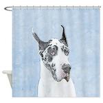 Great Dane (Harlequin) Shower Curtain