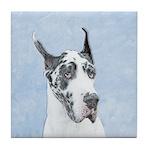 Great Dane (Harlequin) Tile Coaster