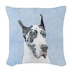 Great Dane (Harlequin) Woven Throw Pillow