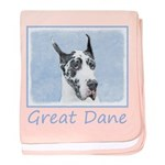 Great Dane (Harlequin) baby blanket