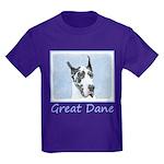 Great Dane (Harlequin) Kids Dark T-Shirt