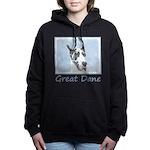 Great Dane (Harlequin) Women's Hooded Sweatshirt