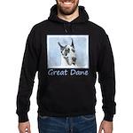 Great Dane (Harlequin) Hoodie (dark)