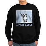 Great Dane (Harlequin) Sweatshirt (dark)