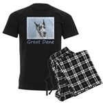 Great Dane (Harlequin) Men's Dark Pajamas