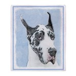 Great Dane (Harlequin) Throw Blanket