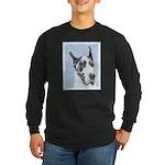 Great Dane (Harlequin) Long Sleeve Dark T-Shirt