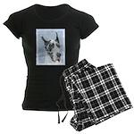 Great Dane (Harlequin) Women's Dark Pajamas