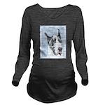 Great Dane (Harlequi Long Sleeve Maternity T-Shirt