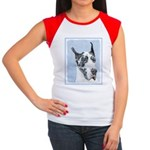 Great Dane (Harlequin) Junior's Cap Sleeve T-Shirt
