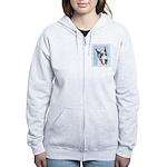 Great Dane (Harlequin) Women's Zip Hoodie