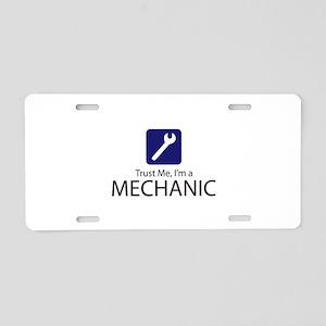 Trust Me Mechanic Aluminum License Plate
