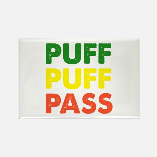 PUFF PUFF PASS Rectangle Magnet